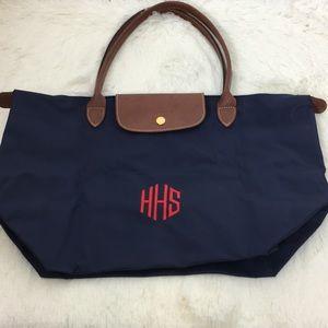Longchamp large navy bag